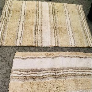 2 throw rugs size